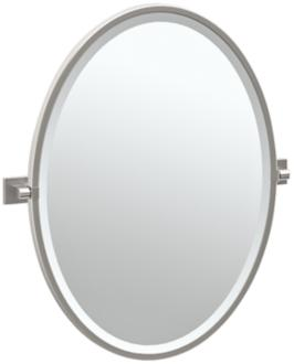 "Gatco Elevate Satin Nickel 23 3/4"" x 27 1/2"" Wall Mirror (7X579) 7X579"