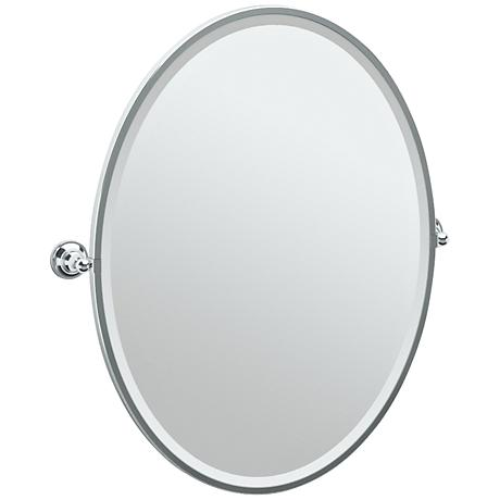 "Gatco Tiara Chrome 28 3/4"" x 33"" Large Oval Wall Mirror"