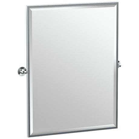 "Gatco Max Chrome 28"" x 32 1/2"" Large Wall Mirror"
