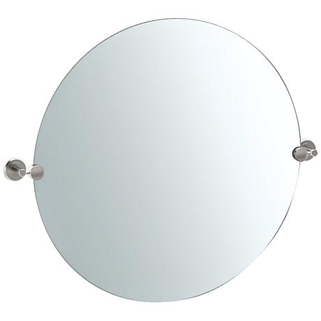 "Gatco Latitude II Satin Nickel 29 1/2"" x 25"" Wall Mirror"
