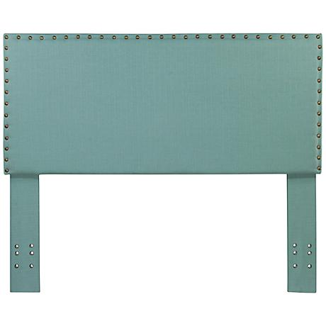 Brande Light Blue Full/Queen Upholstered Headboard