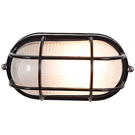 "Nauticus 6 1/2"" High Black Outdoor Wall Light"
