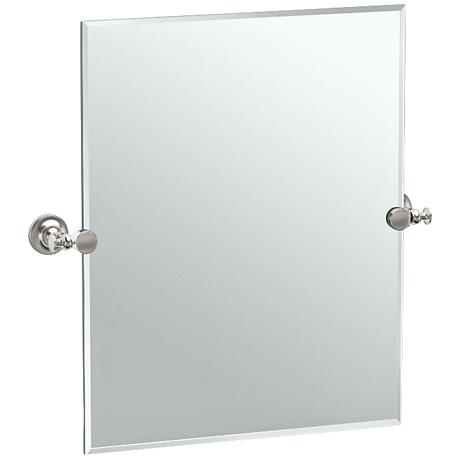 "Gatco Tavern Satin Nickel 23 1/2"" x 24"" Vanity Mirror"