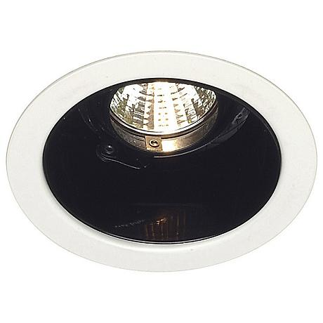 "Nora 4"" Low Voltage Black Alzak Recessed Light Trim"