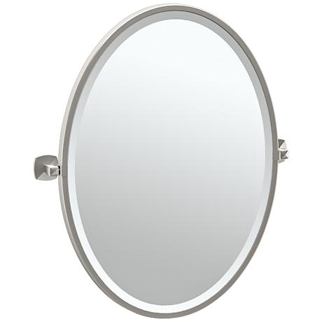 "Gatco Jewel Satin Nickel 23 1/2"" x 27 1/2"" Vanity Mirror"