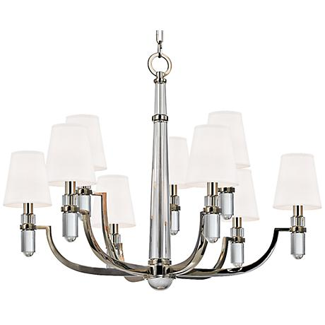 "Hudson Valley Dayton 33"" Wide Polished Nickel Chandelier"