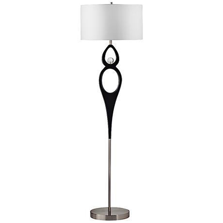 Nova Infinitum Dark Brown Wood Floor Lamp