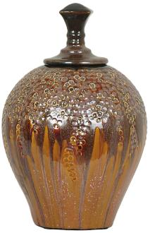"Crestview Hera Medium Lidded 12 1/2"" High Ceramic Vase (7X880) 7X880"