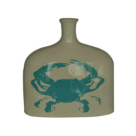 "Crestview Collection Short Crab 9"" High Ceramic Vase"