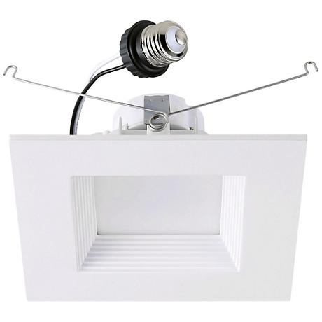 "6"" Cyber Tech 19 Watt LED Retrofit Trim in Off-White"