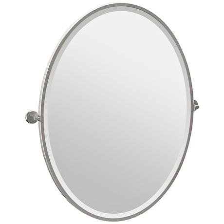 "Gatco Latitude II Satin Nickel 28 1/4"" x 33"" Vanity Mirror"
