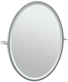 "Gatco Bleu Chrome 23 1/2"" x 27 1/2"" Framed Vanity Mirror (7Y311) 7Y311"