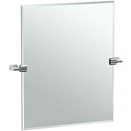 "Gatco Bleu Chrome 24"" Small Rectangle Vanity Mirror"