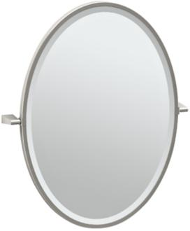 "Gatco Bleu Satin Nickel 23 1/2"" x 27 1/2"" Vanity Mirror (7Y316) 7Y316"