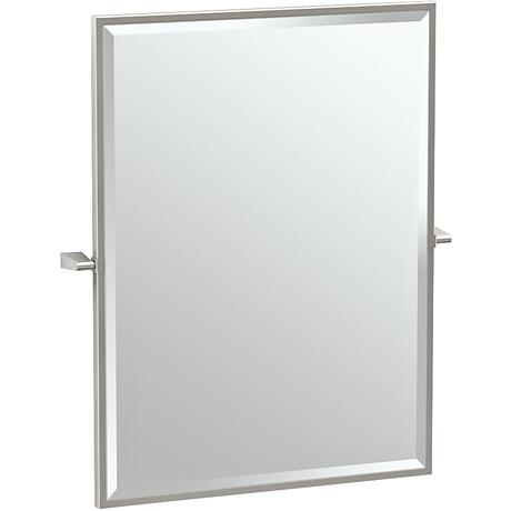 "Gatco Bleu Satin Nickel 27 1/2"" x 32 1/2"" Vanity Mirror"