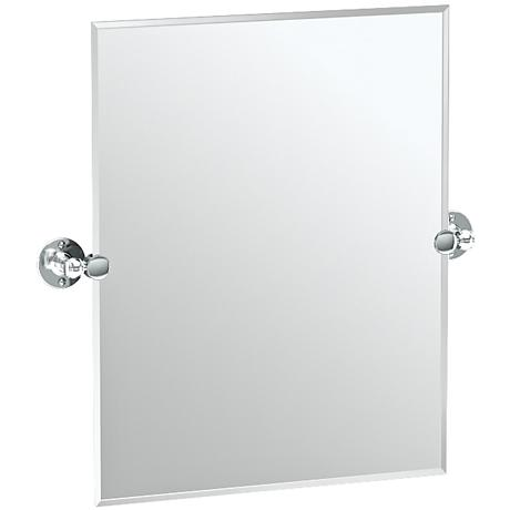 "Gatco Cafe Chrome 23 1/2"" x 24"" Rectangular Vanity Mirror"
