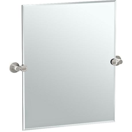 "Gatco Channel Satin Nickel 24"" x 24"" Vanity Mirror"