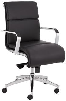 Nelson Black Faux Leather Mid Back Office Chair (7Y392) 7Y392