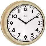 "Classic Cream Retro School 12 1/2"" Round Wall Clock"