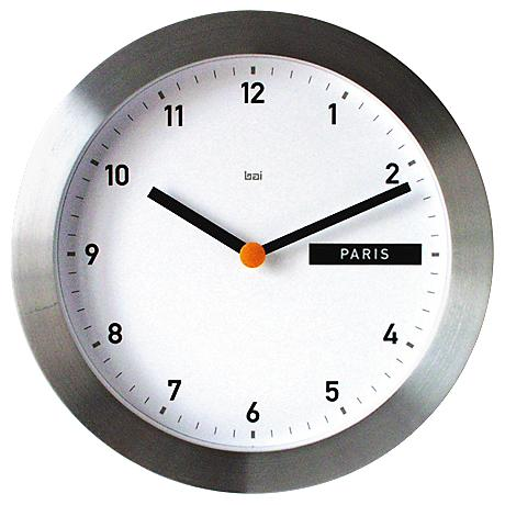 "Global Destination 11"" Round Wall Clock"