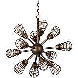 "Bendlin Industrial 34"" Wide 12-Light Bronze Chandelier"