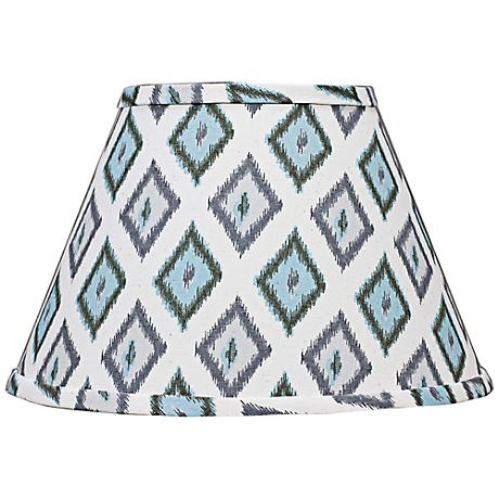 Aqua Gray Diamonte Empire Lamp Shade 9x16x12 (Spider)