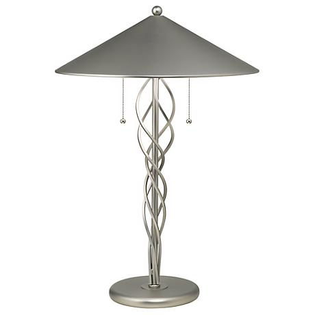 Lite Source Satin Steel Torsion Table Lamp