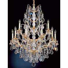 Schonbek Historical Bordeaux Legacy French Gold Chandelier