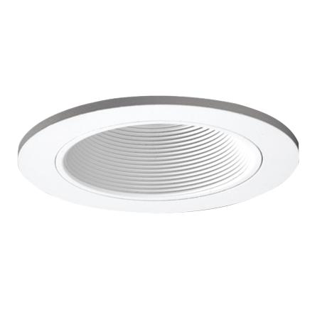 "Intense 4"" Low Voltage White Baffle Recessed Light Trim"