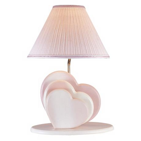 Lite Source Soft Pink Love Hearts Night Light Table Lamp