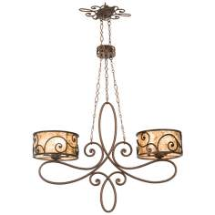 Windsor Collection Stained Mica 10-Light Island Chandelier
