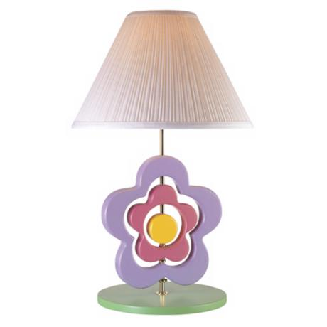 Lite Source Spinning Flower Table Lamp