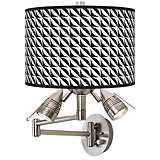 Waves Giclee Swing Arm Wall Light