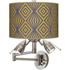 Deco Revival Giclee Swing Arm Wall Light