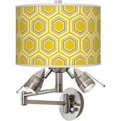 Honeycomb Giclee Swing Arm Wall Light