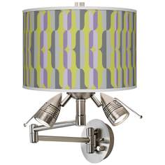 Side By Side Giclee Swing Arm Wall Light