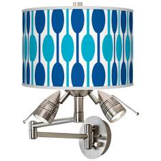 Jet Set Giclee Swing Arm Wall Light
