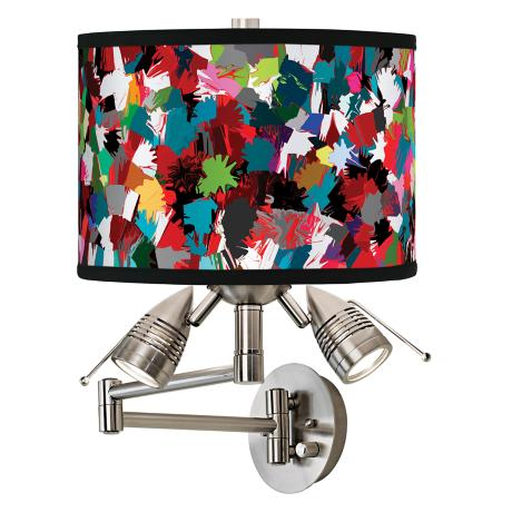 Color Splatter Giclee Swing Arm Wall Light