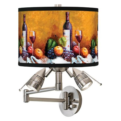 Wine And Fruit Giclee Swing Arm Wall Light