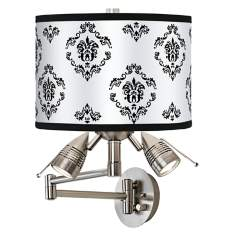 French Crest Giclee Swing Arm Wall Light