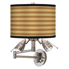 Butterscotch Parallels Giclee Swing Arm Wall Light