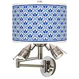 Arabella Giclee Swing Arm Wall Light