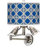 Four Corners Giclee Swing Arm Wall Light