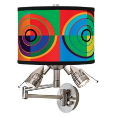 Circle Parade Giclee Swing Arm Wall Light