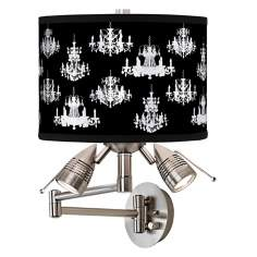 Chic Chandeliers Giclee Swing Arm Wall Light