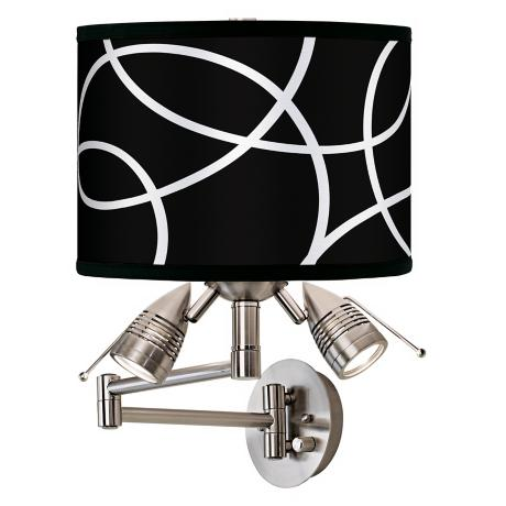 Abstract Giclee Swing Arm Wall Light