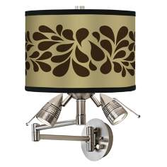 Brown Splash On Tan Giclee Swing Arm Wall Light