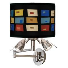 Palette Squares Giclee Swing Arm Wall Light