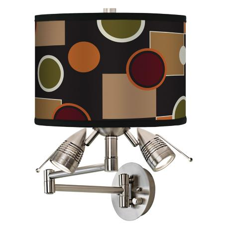 Retro Medley Giclee Swing Arm Wall Light