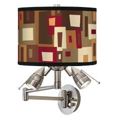 Earth Palette Giclee Swing Arm Wall Light
